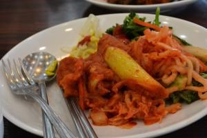 kimchi na talíři