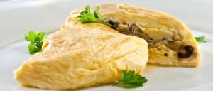 vaječná omeleta s ústřicemi